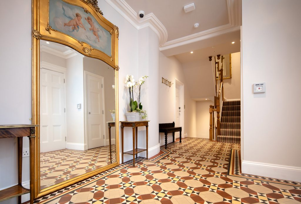 Interior hallway of Beech House, Clifton
